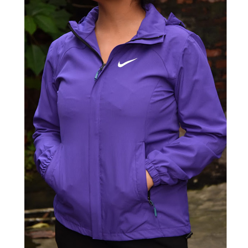 Women's  Nike Purple Hooded Wind Resistant/Water Repellent Windbreaker Jacket
