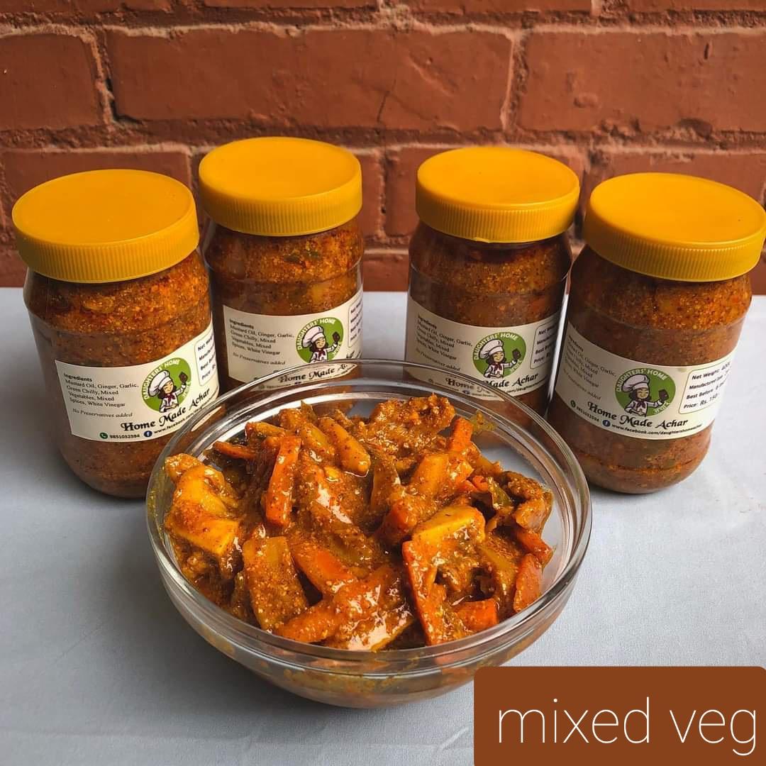 """Mixed veg Pickle """" Khadeko Tarkari Ko Achar""""1kg"""