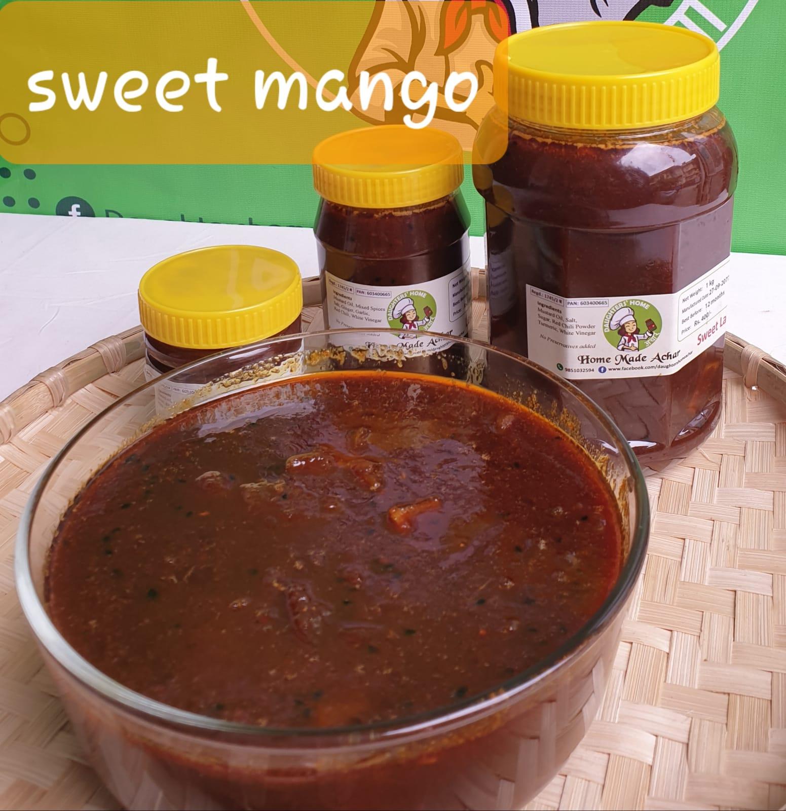 """Sweet Mango Pickle """"Guliyo Aap ko Achar"""" 1kg"""