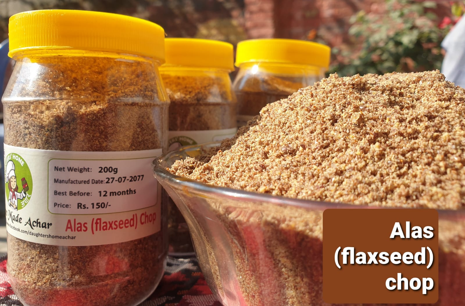 "flaxseed Pickle ""Aalas Ko Chop""200gm"