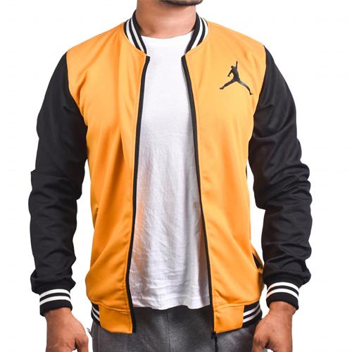 Air Jordan Yellow Black With Zipper Bomber Baseball Jacket for Men original Cotton